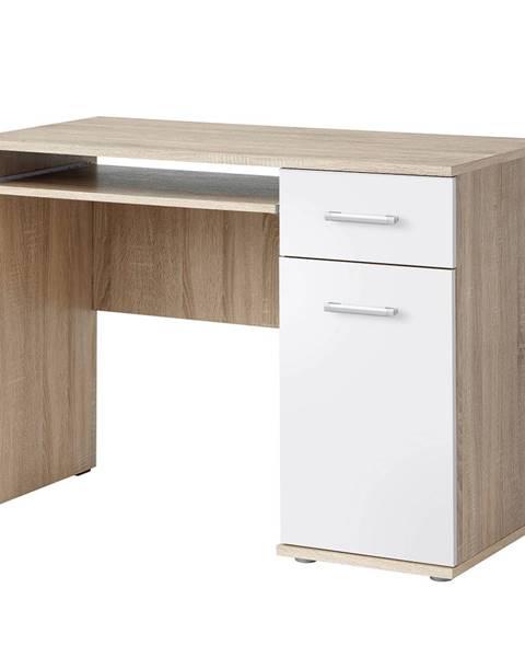 Tempo Kondela PC stôl dub sonoma/biela EMIO Typ 6 poškodený tovar