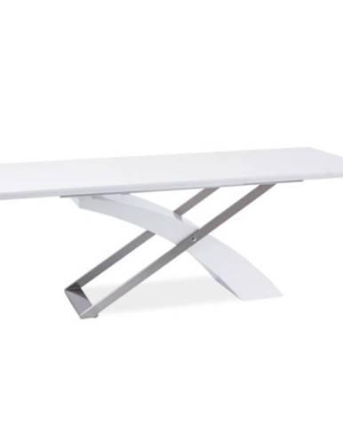 Jedálenský stôl biela/biela extra vysoký lesk HG KROS