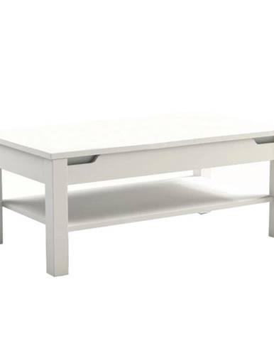 Konferenčný stolík biela/biela s extra vysokým leskom ADONIS AS 96 poškodený tovar