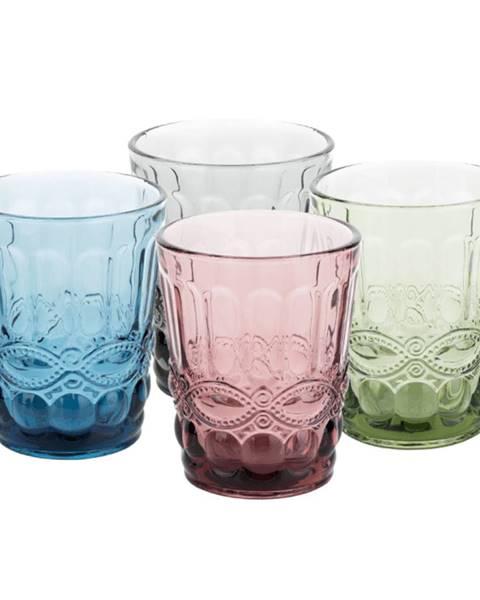 Tempo Kondela Farebné vintage poháre na vodu 4ks 240ml SAVOY TYP 2