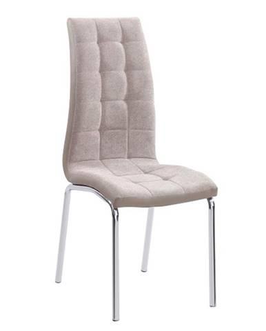 Jedálenská stolička béžová/chróm GERDA NEW poškodený tovar