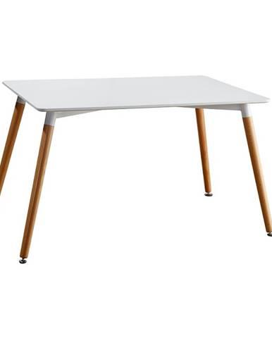 Jedálenský stôl biela/buk DIDIER 3 NEW poškodený tovar