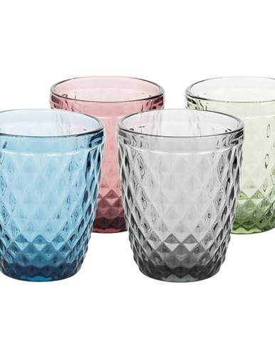 Farebné retro poháre na vodu 4ks 240ml VERITAS TYP 2