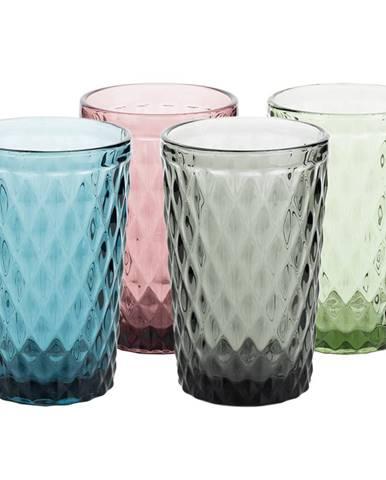 Farebné retro poháre na vodu 4ks 350ml VERITAS TYP 1