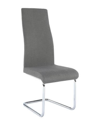 Jedálenská stolička látka tmavosivá/chróm AMINA rozbalený tovar