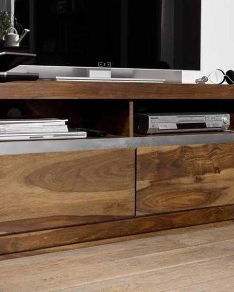 Bighome.sk ROUND TV stolík 133x60 cm, hnedá, palisander