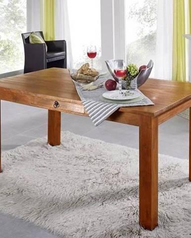 CAMBRIDGE HONEY Jedálenský stôl so šuplíkom 160x90 cm, akácia