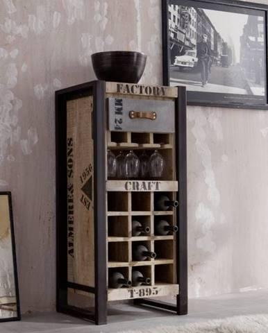 FABRICA Regál na víno 120x51 cm, mango