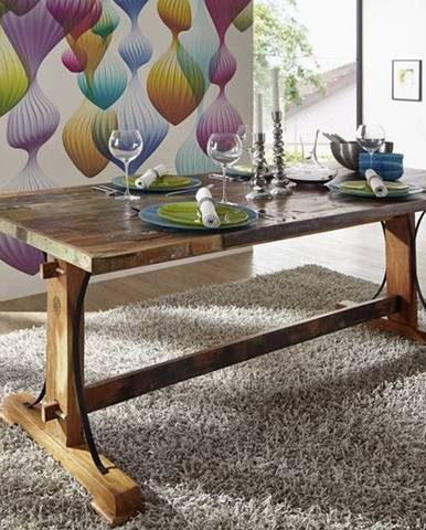 OLDTIME Jedálenský stôl 180x90 cm, staré drevo