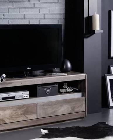 ROUND TV stolík 120x50 cm, dymová, palisander