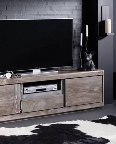 ROUND TV stolík 170x50 cm, dymová, palisander