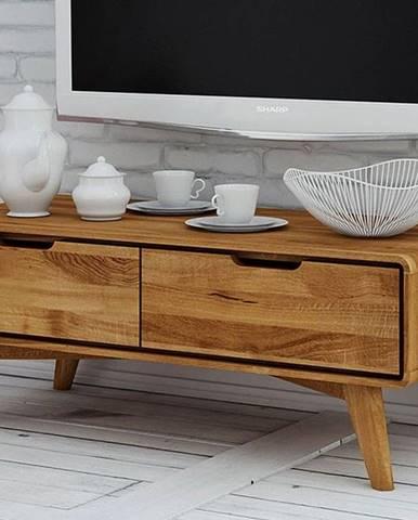 SKANE TV stolík 90x33 cm, dub, prírodná