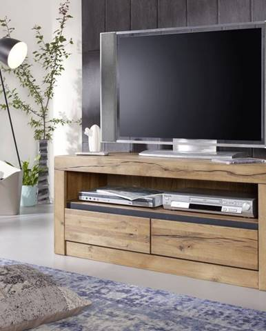 VEVEY  TV stolík 115x49 cm, prírodná, dub