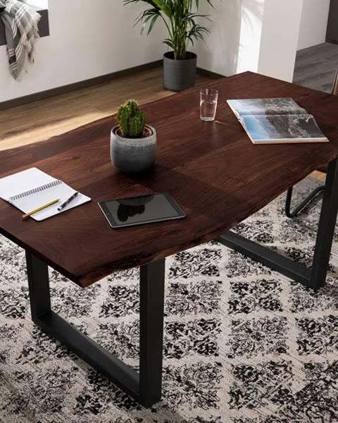 Bighome.sk METALL Jedálenský stôl s antracitovými nohami (matné) 180x90, akácia, hnedá