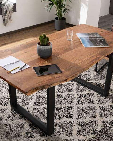 Bighome.sk METALL Jedálenský stôl s antracitovými nohami (matné) 180x90, akácia, prírodná
