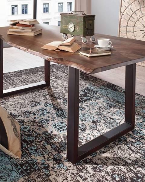 Bighome.sk METALL Jedálenský stôl s antracitovými nohami (matné) 180x90, akácia, sivá