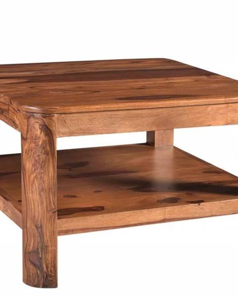 Bighome.sk MONTREAL Konferenčný stolík 70x70 cm, hnedá, palisander