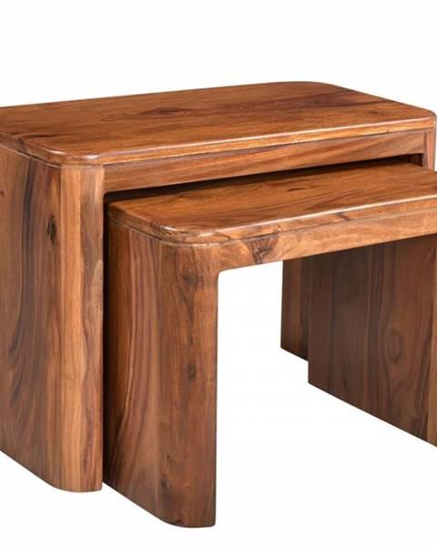 Bighome.sk MONTREAL Príručný stolík 59x30 cm, hnedá, palisander