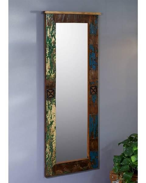 Bighome.sk OLDTIME Zrkadlo 59x145 cm, staré drevo