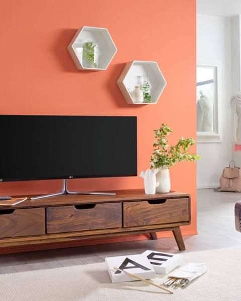 Bighome.sk SKANE TV stolík 134x34 cm, palisander, hnedá