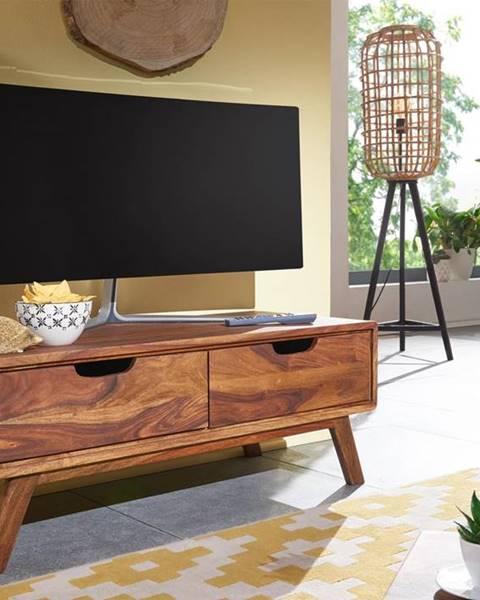 Bighome.sk SKANE TV stolík 90x34 cm, palisander, hnedá