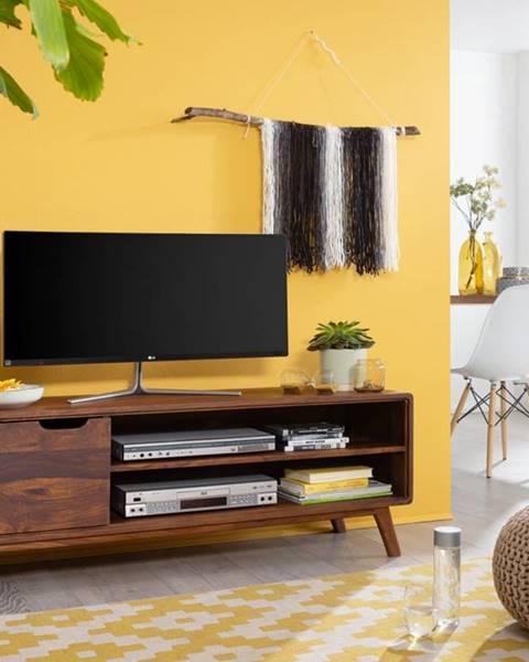 Bighome.sk SKANE TV stolík I. 134x48 cm, palisander, hnedá