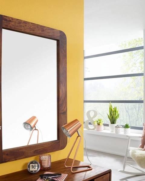 Bighome.sk SKANE Zrkadlo 90x60 cm, palisander, hnedá