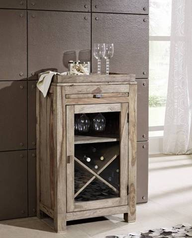GREY WOOD Regál na víno 104x60 cm, palisander