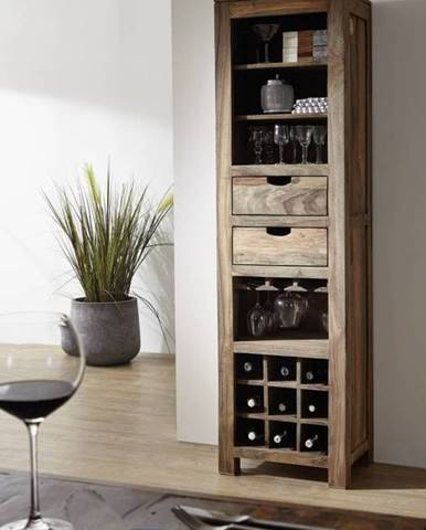 GREY WOOD Regál na víno 180x50 cm, palisander