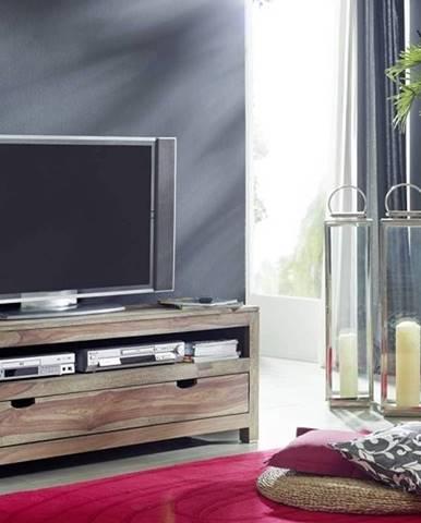GREY WOOD TV stolík so šuplíkom 140x50 cm, palisander