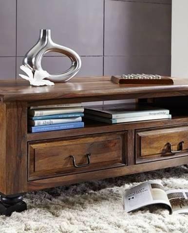 KOLONIAL Konferenčný stolík s poličkou 115x60 cm, palisander