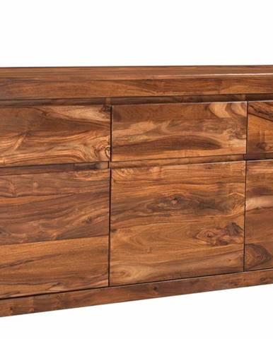 MONTREAL Komoda 80x185 cm, hnedá, palisander