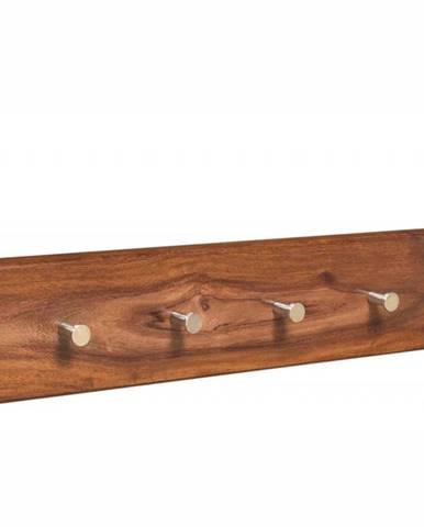 MONTREAL Nástenný vešiak 70x10 cm, hnedá