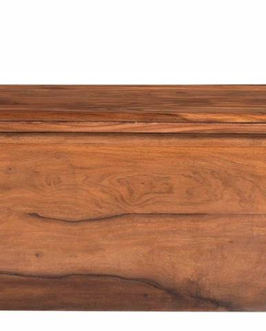 MONTREAL Truhlica 80x40 cm, hnedá, palisander