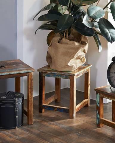 OLDTIME Príručný stolík set 48x40 cm, staré drevo