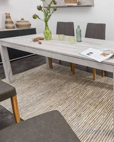 TAMPERE Jedálenský stôl 200x100 cm, dub, svetlosivá