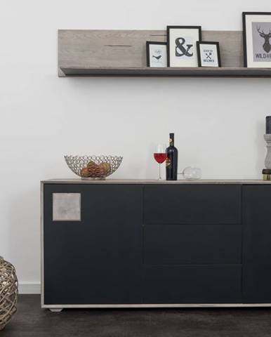 TAMPERE Komoda II. 78x180 cm, dub, svetlosivá
