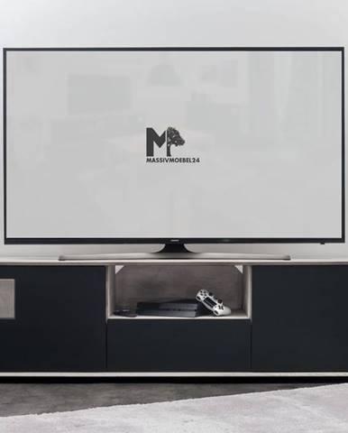 TAMPERE TV stolík 50x180 cm, dub, svetlosivá
