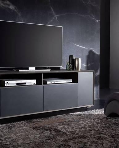 TAMPERE TV stolík 58x180 cm, dub, dymová