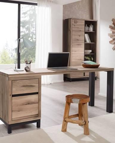 TIROL Písací stôl 220x55 cm, svetlohnedá, dub