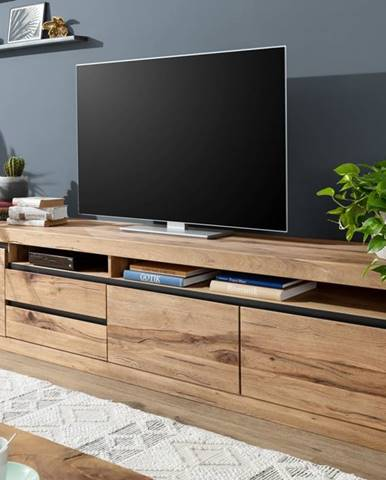 VEVEY TV stolík 260x60 cm, prírodná, dub