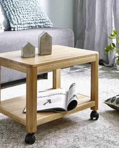 VIENNA Servírovací stolík 50x40 cm, dub