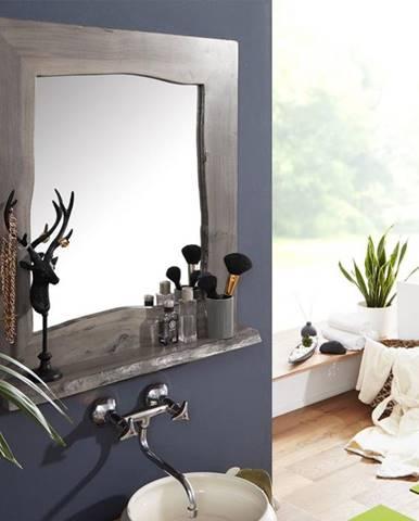 WOODLAND Kúpeľňové zrkadlo 70x78 cm, sivá, akácia