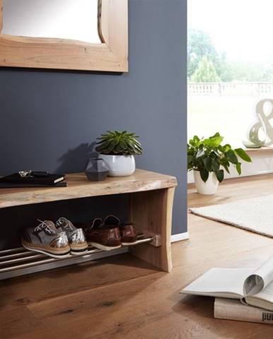 WOODLAND Regál na topánky 81x40 cm, prírodná, akácia