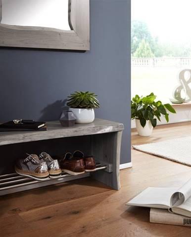 WOODLAND Regál na topánky 84x40 cm, sivá, akácia
