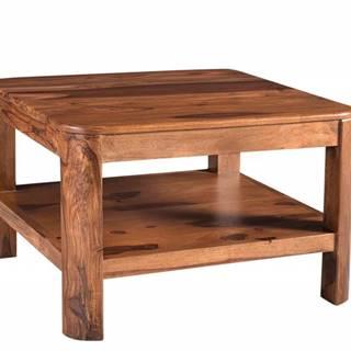 MONTREAL Konferenčný stolík 70x70 cm, hnedá, palisander