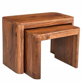 MONTREAL Príručný stolík 59x30 cm, hnedá, palisander