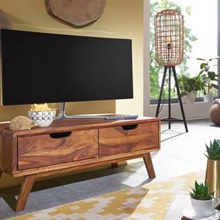 SKANE TV stolík 90x34 cm, palisander, hnedá