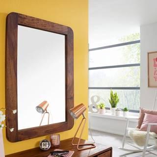 SKANE Zrkadlo 90x60 cm, palisander, hnedá