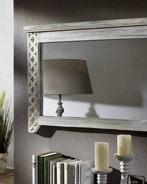 Bighome.sk ANTIK Zrkadlo 90x60 cm, mango a akácia